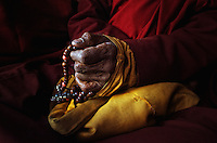 Buddhist prayer beads or &quot;Japa mala&quot; are a traditional tool used to count time while meditating using mantras. They are similar to other forms of prayer beads used in various world religions and to Christianity's Rosary...A Japa mala is a set of beads commonly used by Hindus and Buddhists, usually made from 108 beads, though other numbers, usually divisible by 9, are also used. Malas are used for keeping count while reciting, chanting, or mentally repeating a mantra or the name or names of a deity. This practice is known in Sanskrit as japa. Malas are typically made with 19, 21, 27, 54 or 108 beads.
