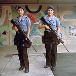 Police officers Glayce Araujo, 25, and Elen Moura, 24<br /> Administration<br /> Pacifying Police Unit<br /> Complexo do Caju, Rio de Janeiro, Brazil