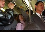 Rush Hour Transit Crush Local Train to Kamakura Japan