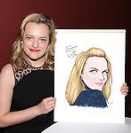 Sardi's caricature unveiling for Elisabeth Moss