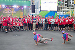RIO DE JANEIRO - 5/9/2016:  The flag raising welcome ceremony for Canada in the International Zone of the Paralympic Village at the Rio 2016 Paralympic Games. (Photo by Matthew Murnaghan/Canadian Paralympic Committee