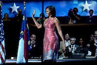 Michelle Obama at the Democratic Convention in Charlotte, North Carolina