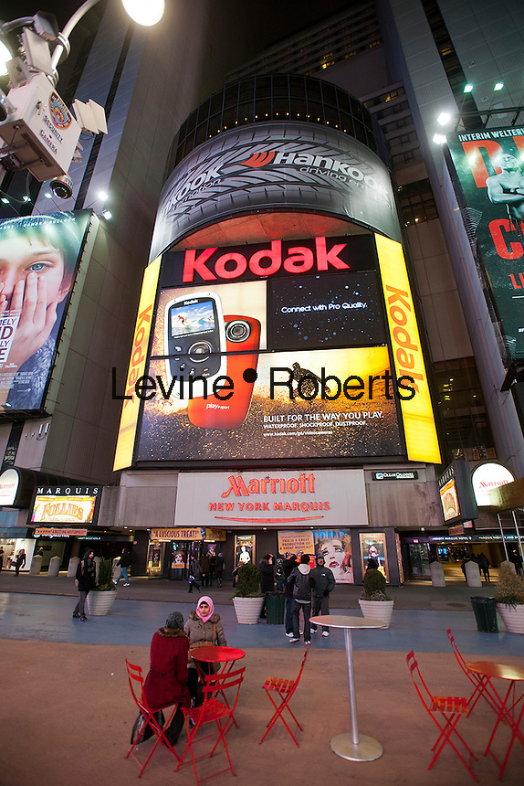 The Kodak billboard in Times Square in New York on Thursday, January 19, 2012.  Eastman Kodak Co. filed for Chapter 11 bankruptcy protection today. The iconic American company, started in 1880. owns 1,100 digital patents which are a major portion of the company's value. (© Richard B. Levine)