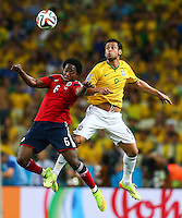 Carlos Sanchez of Colombia and Fred of Brazil in action