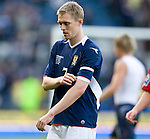 Darren Fletcher takes off his captain's armband after the match