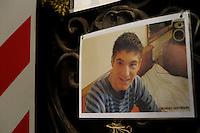 Terremoto de L'Aquila. L'Aquila Earthquake..Il convitto dello studente, ritratti delle giovani vittime. The boarding school student, portraits of the young victims.