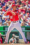 27 April 2014: Washington Nationals pitcher Taylor Jordan stands at bat against the San Diego Padres at Nationals Park in Washington, DC. The Padres defeated the Nationals 4-2 to to split their 4-game series. Mandatory Credit: Ed Wolfstein Photo *** RAW (NEF) Image File Available ***