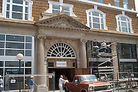 1996 May 08..Redevelopment.Tidewater Community College..TCC PROGRESS..FACADE WITH MARTIN BUILDING NAME..NEG#.NRHA#..