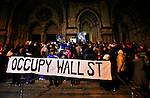 Occupy Wall Street Protest march during a candlelight vigil to honor Rev. Martin Luther King, Jr. in New York, United States. 15/01/2012.  Photo by Kena Betancur / VIEWpress.