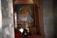 An image of Guru Jambeshwar ji. Who is the main guru of Bishnois and whohas laid down 29 pricipals for Bishnoism. Jodhpur, Rajasthan, India. Arindam Mukherjee