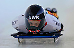 18 November 2005: Kerstin Juergens of Germany slides down the track to take 10th place at the 2005 FIBT World Cup Women's Skeleton competition at the Verizon Sports Complex, in Lake Placid, NY. Mandatory Photo Credit: Ed Wolfstein.