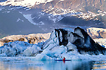 Kayaker on the Alsek River, Alaska
