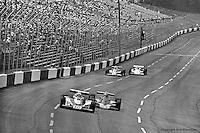 HAMPTON, GA - APRIL 22: Pancho Carter (#10 Lightning 77/Cosworth TC) leads Lee Kunzman (#21 Parnelli VPJ6C/Cosworth TC) during the Gould Twin Dixie 125 event on April 22, 1979, at Atlanta International Raceway near Hampton, Georgia.