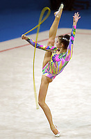 Oct 01, 2000; SYDNEY, AUSTRALIA:<br /> Yulia Raskina of Belarus performs with rope during rhythmic gymnastics final at 2000 Summer Olympics. Yulia took silver medal at Sydney.