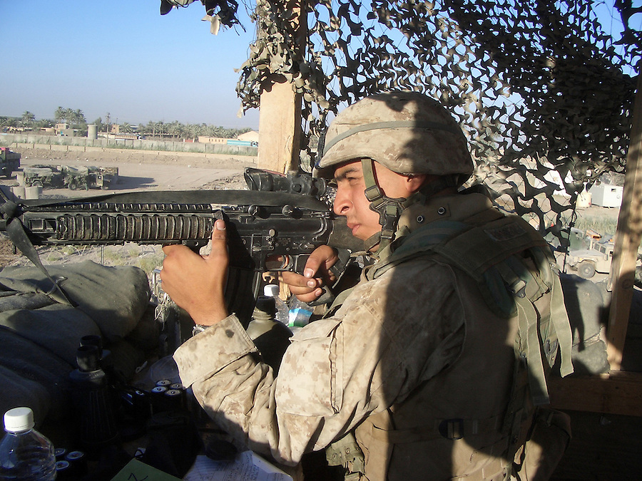 Ivan Brobeck, 21, of Arlington, VA during his deployment to Iraq. Brobek was formerly a US Marine with Easy Company 2nd Battalion 2nd Marine Regiment and was previously stationed in Mahmudiya, Fallujah, and Zedon, Iraq. He fled to Canada on April 19, 2005...