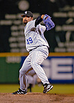 12 June 2006: Jose Mesa, pitcher for the Colorado Rockies, on the mound in relief against the Washington Nationals at RFK Stadium, in Washington, DC. The Rockies defeated the Nationals 4-3 in the first game of the four game series...Mandatory Photo Credit: Ed Wolfstein Photo..