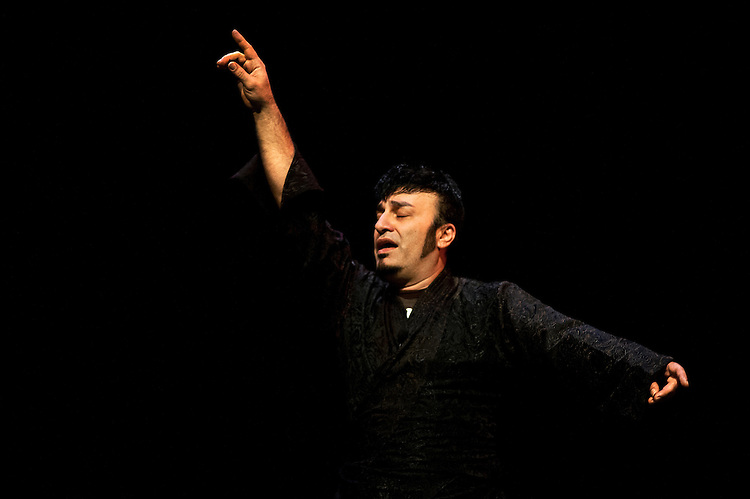 Sashar Zarif performs during a dress rehearsal for the third annual Global Excusions World Music and Dance Festival, which was held in the Templeton-Blackburn Alumni Memorial Auditorium on Saturday.  Photo by: Ross Brinkerhoff.