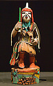 Hopi Katsina figure (AKA kachina doll); Heard Museum, Phoenix, Arizona.