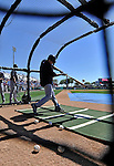 12 March 2011: The New York Yankees take batting practice prior to a Spring Training game against the Washington Nationals at Space Coast Stadium in Viera, Florida. The Nationals edged out the Yankees 6-5 in Grapefruit League action. Mandatory Credit: Ed Wolfstein Photo