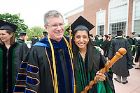 William Jeffries, Ph.D., left, Shetal Patel. Commencement class of 2013.