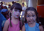 face paint on kid's at Strawberry Festival