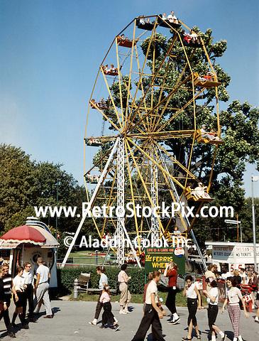 Willow Grove Amusement Park Ferris Wheel in 1960.