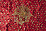 ATI-609 RED SINDH ODHANA SHAWL WITH CENTRAL MEDALLION