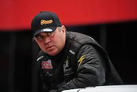 Jun. 17, 2012; Bristol, TN, USA: NHRA top fuel dragster driver Scott Palmer during the Thunder Valley Nationals at Bristol Dragway. Mandatory Credit: Mark J. Rebilas-