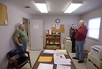 NWA Democrat-Gazette/BEN GOFF @NWABENGOFF<br /> Doug Carter (right), Northwest Technical Institute instructor, takes a picture of Corey Marler Thursday, April, 6, 2017, to commemorate Marler's completion of the commercial drivers license program at Northwest Technical Institute in Springdale.