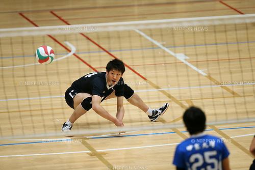 Yuki Ishikawa (), <br /> DECEMBER 3, 2015 - Volleyball : 2015 All Japan Intercollegiate Volleyball Championship men's match between Chuo University and Chukyo University in Tokyo, Japan. (Photo by Jun Tsukida/AFLO SPORT)