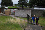 Vale of Leven 3 Ashfield 4, 03/09/2016. Millburn Park, West of Scotland League Central District Second Division. Two spectators arriving at Millburn Park, Alexandria, before Vale of Leven hosted Ashfield in a West of Scotland League Central District Second Division Junior fixture. Vale of Leven were one of the founder members of the Scottish League in 1890 and remained part of the SFA and League structure until 1929 when the original club folded, only to be resurrected as a member of the Scottish Junior Football Association after World War II. They lost the match to Ashfield by 4-3, having led 3-1 with 10 minutes remaining. Photo by Colin McPherson.