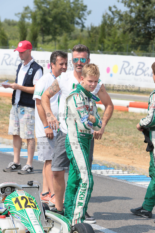 Ortona (CH) 21/07/2013: Mick Schumacher durante la gare di Kart del campionato europeo Cik-Fia. Foto Adamo Di Loreto/buenaVista*photo. Mick Schumacher during the European Cik-Fia on July 21, 2013. Photo: Adamo Di Loreto/buenaVista*photo