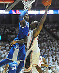 "Mississippi's Murphy Holloway (31) is defended by Kentucky's Nerlens Noel (3) at the C.M. ""Tad"" Smith Coliseum on Tuesday, January 29, 2013. Noel had a school record 12 blocks as Kentucky won 87-74. (AP Photo/Oxford Eagle, Bruce Newman).."