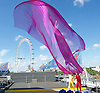 Air Play <br /> Acrobuffos <br /> perform at the Southbank Centre Festival of Love Royal Festival Hall, Southbank, London, Great Britain <br /> press photocall <br /> 8th August 2016 <br /> <br /> Seth Bloom <br /> Christina Gelsone <br /> <br /> <br /> Photograph by Elliott Franks <br /> Image licensed to Elliott Franks Photography Services