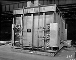 Pittsburgh PA:  View of Swindell Dressler Heat Treating Furnace - 1937.  Swindell Dressler International Company was based in Pittsburgh, Pennsylvania. The company was founded by Phillip Dressler in 1915 as American Dressler Tunnel Kilns, Inc.  In 1930, American Dressler Tunnel Kilns, Inc. merged with William Swindell and Brothers to form Swindell-Dressler Corporation. The Swindell brothers designed, built, and repaired metallurgical furnaces for the steel and aluminum industries. The new company offered extensive heat-treating capabilities to heavy industry worldwide.