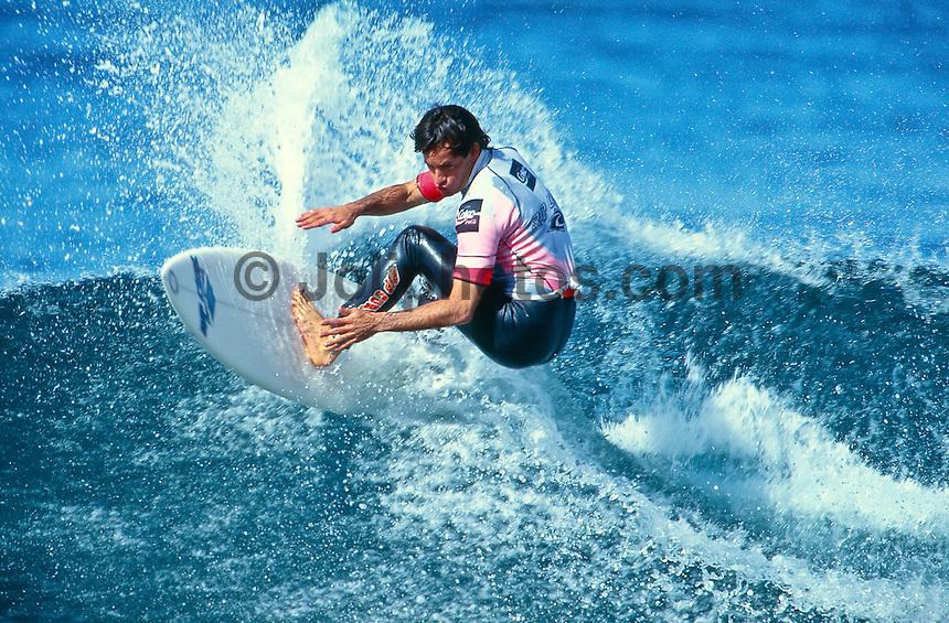 Tom Curren (USA) at the 1992 Rip Curl Pro at Bells Beach, Torquay, Victoria, Australia. Photo: joliphotos.com