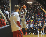 "Ole Miss guard Trevor Gaskins (23) at the C.M. ""Tad"" Smith Coliseum in Oxford, Miss. on Saturday, December 18, 2010. Ole Miss won 71-50."