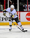 3 February 2009: Pittsburgh Penguins' left wing forward Pascal Dupuis warms up prior to a game against the Montreal Canadiens at the Bell Centre in Montreal, Quebec, Canada. The Canadiens defeated the Penguins 4-2. ***** Editorial Sales Only ***** Mandatory Photo Credit: Ed Wolfstein Photo
