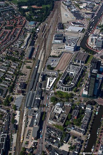 Leeuwarden - luchtfoto stationsgebied