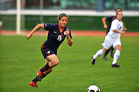 USA's Casey Nogueira attacks vs. Iceland.  The USWNT defeated Iceland (2-0) at Vila Real Sto. Antonio in their opener of the 2010 Algarve Cup on February 24, 2010.