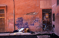 Man sleeps in Marrakesh, Morocco.