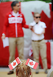 LONDON, ENGLAND – 08/26/2012:  Gaetan Tardif and Lis Walker-Young at Canada's Pep-Rally before the London 2012 Paralympic Games. (Photo by Matthew Murnaghan/Canadian Paralympic Committee)