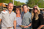 Watertown, CT- 18 May 2017-051817CM22- SOCIAL MOMENTS-- From left, Rich and Nancy Bushka,  Jim Nardozzi and Amanda Devan all of Waterbury,  are photographed during the annual Greater Waterbury Campership Fund picnic at Camp Mataucha in Watertown on Thursday.   Christopher Massa Republican-American