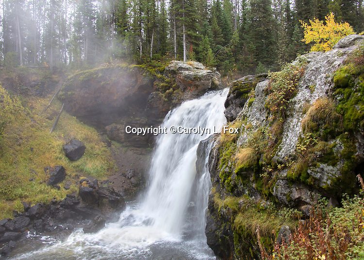 Moose Falls is a beautiful waterfall in the Southern part of Yellowstone National Park.