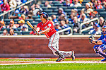 21 April 2013: Washington Nationals third baseman Anthony Rendon makes his first Major League career at bat against the New York Mets at Citi Field in Flushing, NY. Rendon was called up to replace Ryan Zimmerman, who was placed on the 15-day Disabled List with a recovering hamstring. The Mets shut out the visiting Nationals 2-0, taking the rubber match of their 3-game weekend series. Mandatory Credit: Ed Wolfstein Photo *** RAW (NEF) Image File Available ***