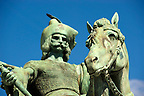 One of the Hungarian Chieftans - H?s&ouml;k tere, ( Heroes Square ) Budapest Hungary