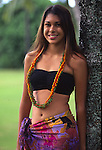 Young Polynesian woman<br />