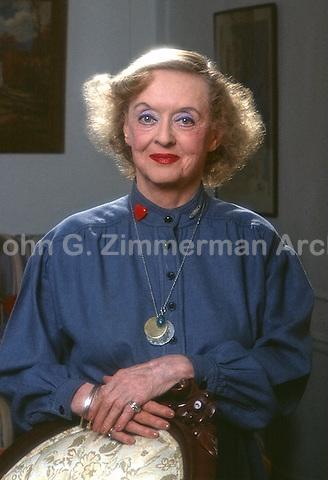 Portrait of Bette Davis, 1980, Los Angeles. Photo by John G. Zimmerman.