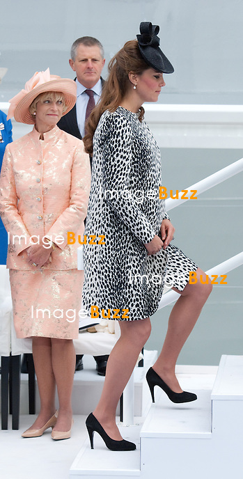 KATE, DUCHESS OF CAMBRIDGE<br /> named a Princess Cruises' ship &quot;Royal Princess&quot;, in a ceremony at Ocean Terminal, Southampton_13/06/2013<br /> This is Kate's last official engagement before the birth of her baby.