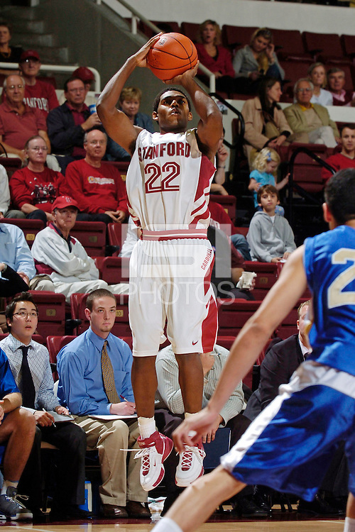 5 November 2006: Stanford Cardinal Kenny Brown during Stanford's 79-59 win against British Columbia at Maples Pavilion in Stanford, CA.